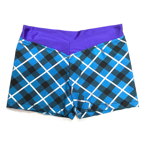 FCDW PLAID V-BAND SHORTS