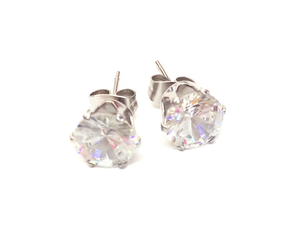 KYSIENN DIAMANTE ROUND EARRINGS
