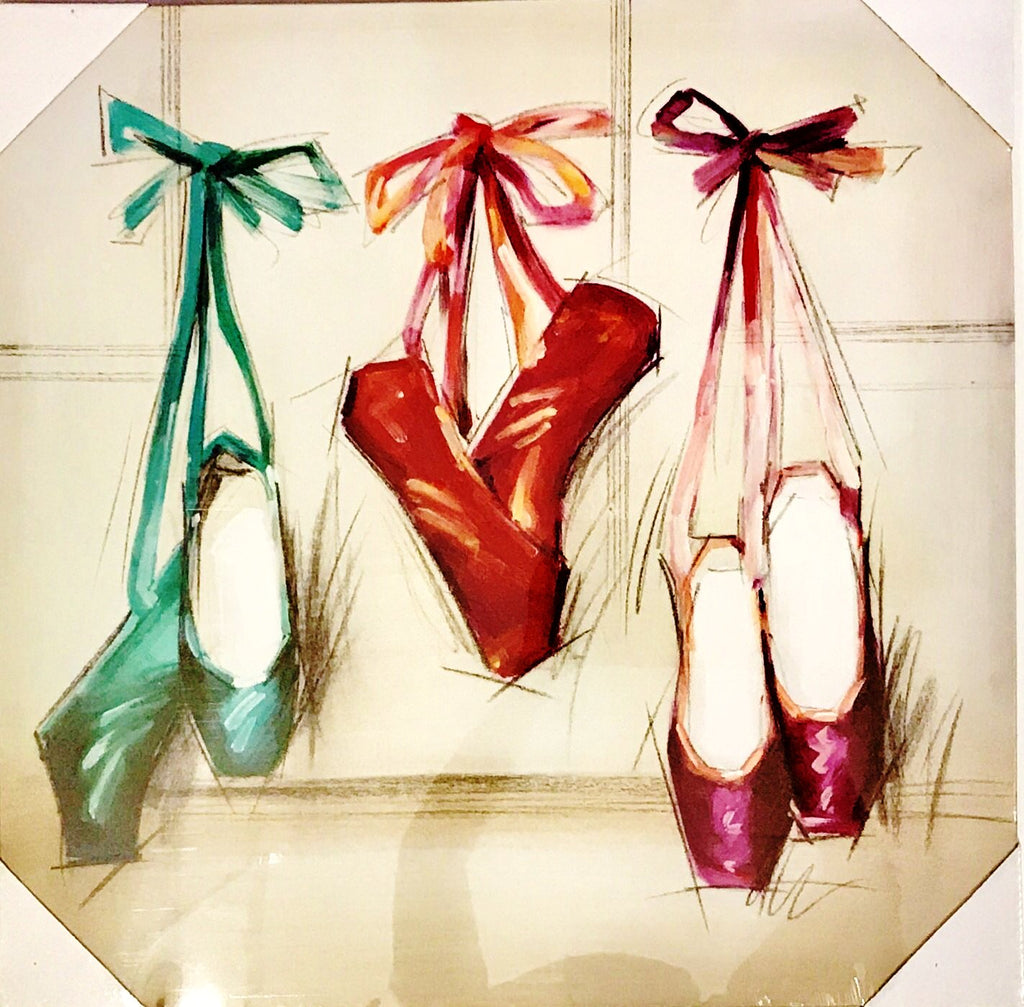 BALLET SHOE CANVAS PAINTING