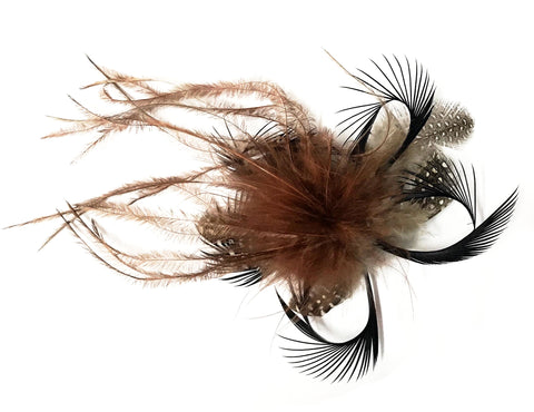 SMALL FEATHER TAIL HAIR CLIP ON