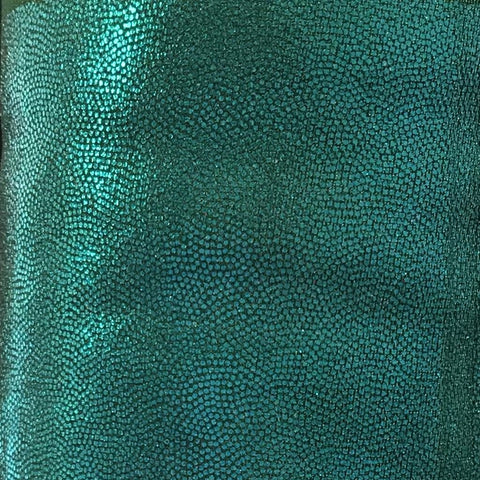 SHATTERED GLASS LYCRA MATERIAL EMERALD