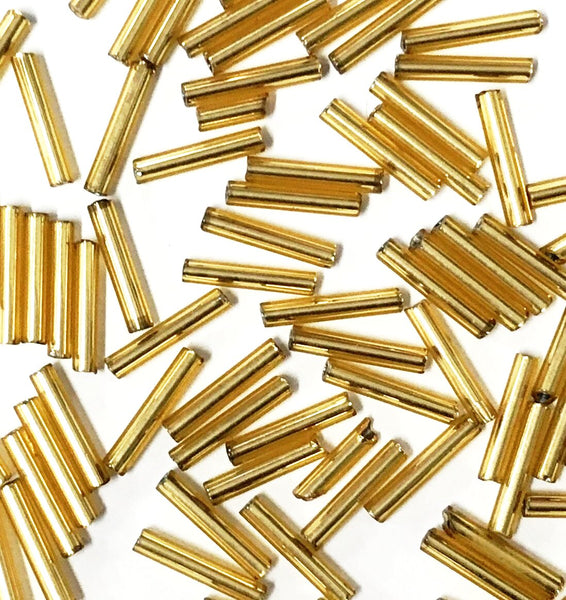 PACKET OF BUGLE BEADS 10MM
