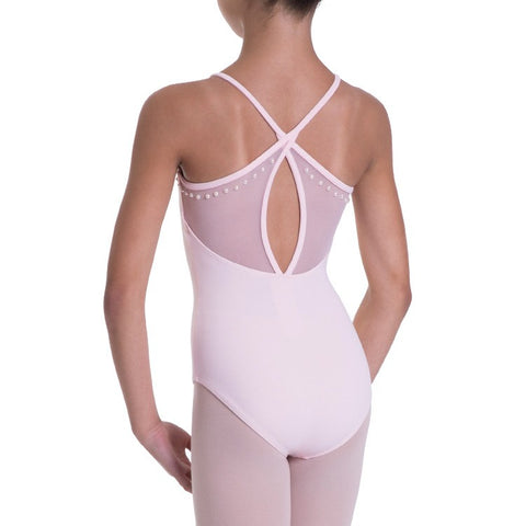 BLOCH CARCI STUDDED HIGH NECK & CROSS BACK LEOTARD - First Class Dancewear NQ