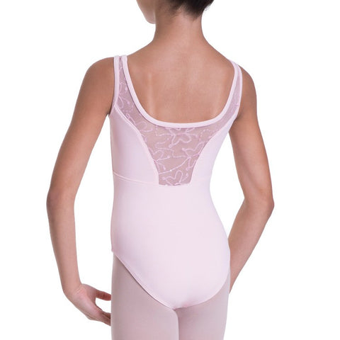 BLOCH SEQUIN BUTTERFLY MESH BACK TANK LEOTARD