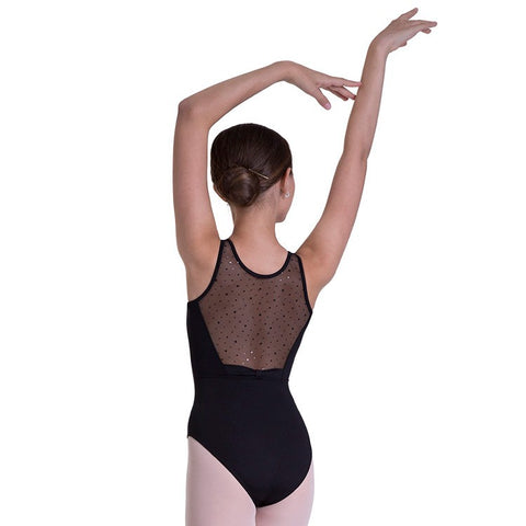 BLOCH HOLO SEQUIN BOW BK TANK LEOTARD - First Class Dancewear NQ