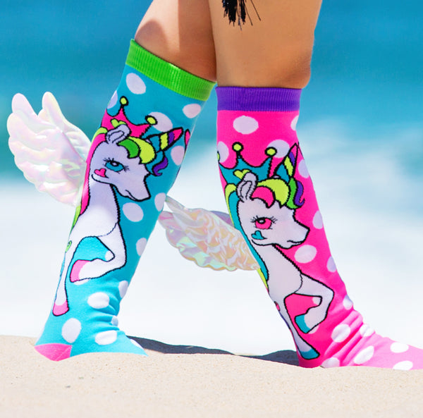 MADMIA FLYING UNICORN KNEE HIGH SOCKS