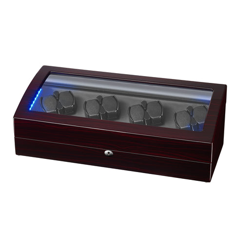 Watch Winder for Automatic Watches 8+9 with Quiet Mabuchi Motor - Ebony