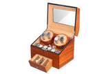 4 Automatic Wood Watch Winder Display Box