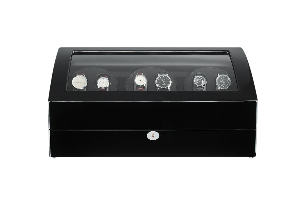 Six Automatic Watch Winder with Quiet Mabuchi Motors