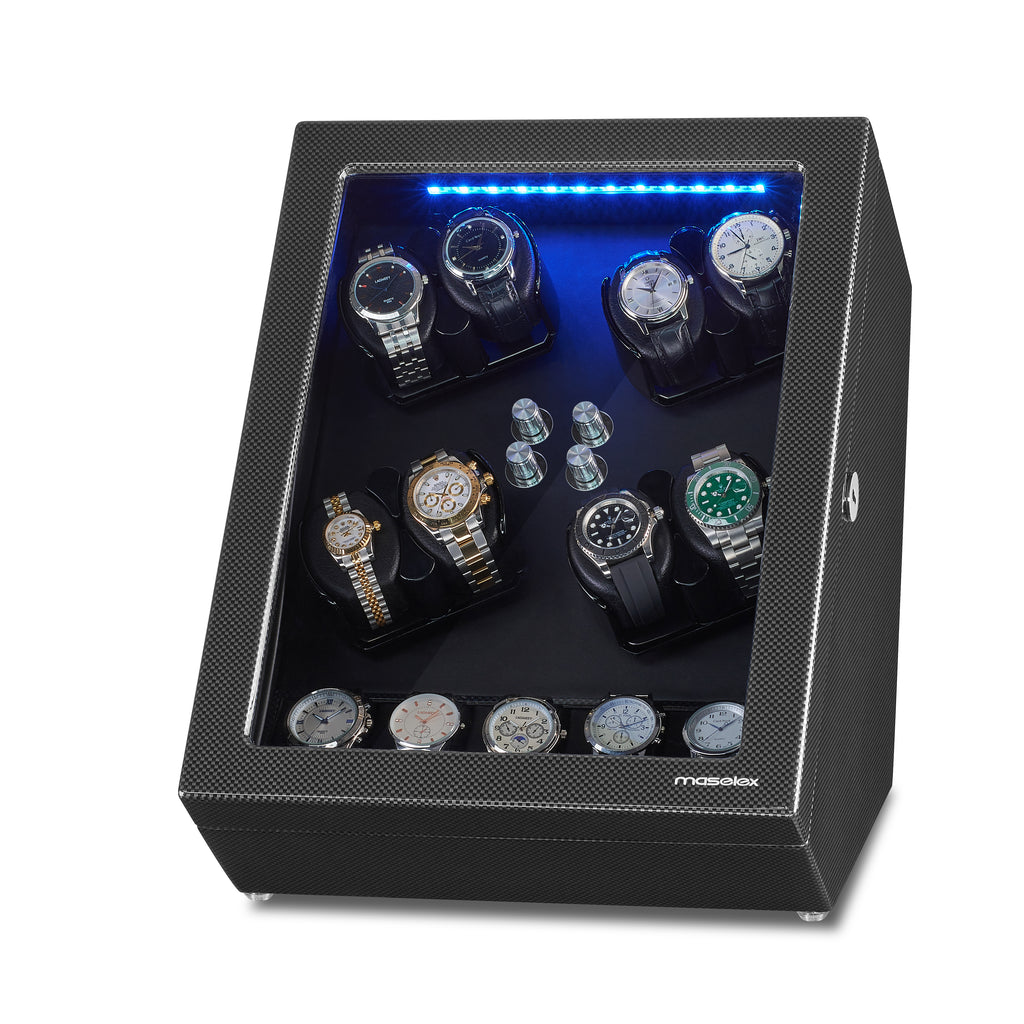 8 Watch Winder for Automatic Watches with 5 Storages, Large Capacity, Black