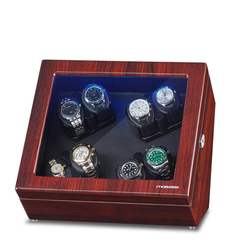8 Watch Winder Build in Led Illuminated, 21 Rotation Mode