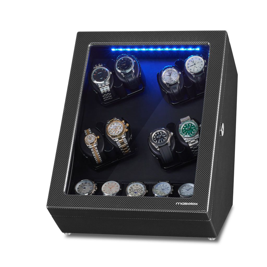 8 Watch Winder for Automatic Watches with 5 Storages, 21 Rotation Mode
