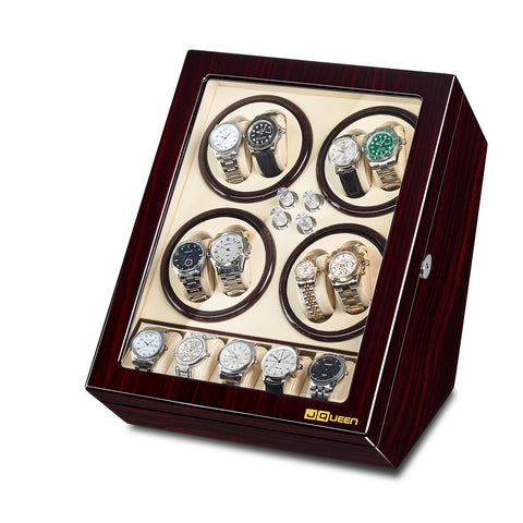 8 Watch Winder with 5 storages - Ebony