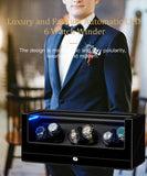 Black Six Watch Winder, Built-in LED Illumination
