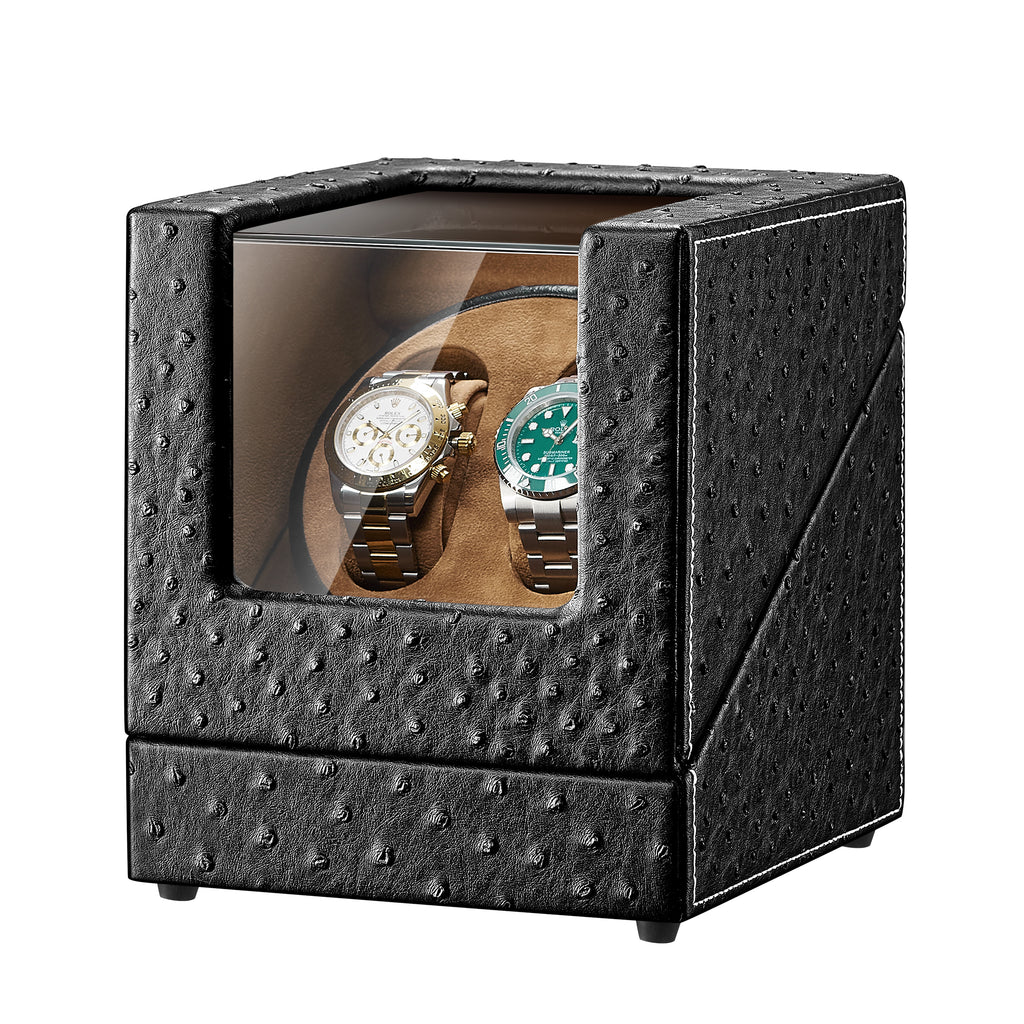 Black Leather Watch Winders