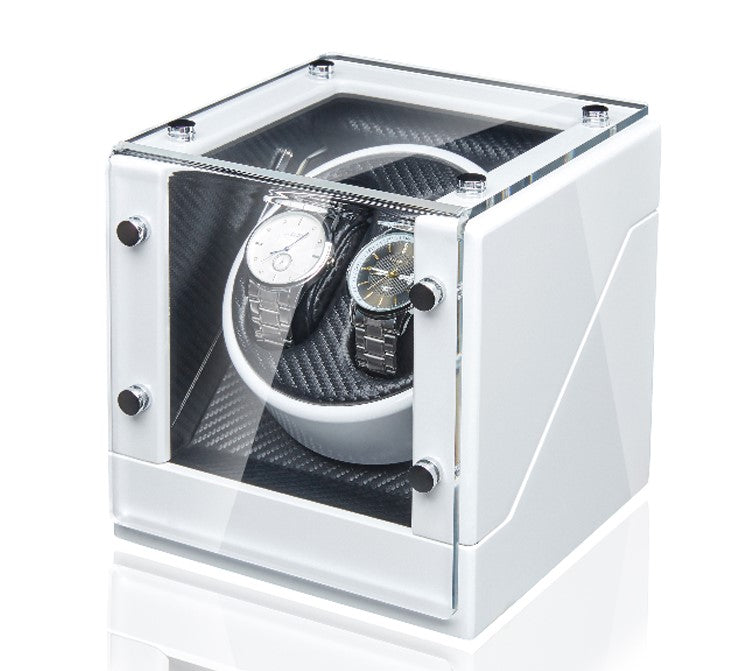 Double Watch Winder - White