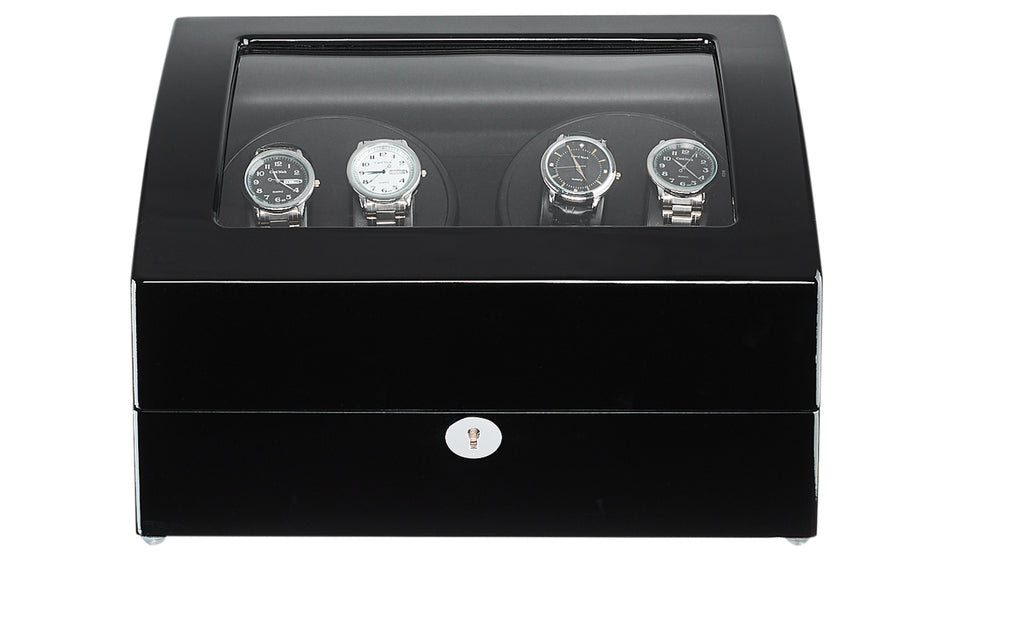 Watch Winder for 10 Automatic Watches - Black