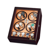 Watch Winder for 8 Automatic Watches with 5 Display Storage Spaces - Brown