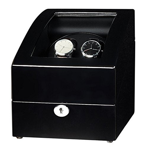 JQUEEN Black Automatic Watch Winder 2+3 Storages With Five Modes
