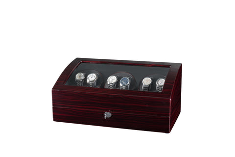 Six Automatic Watch Winder, Quiet Mabuchi Motors