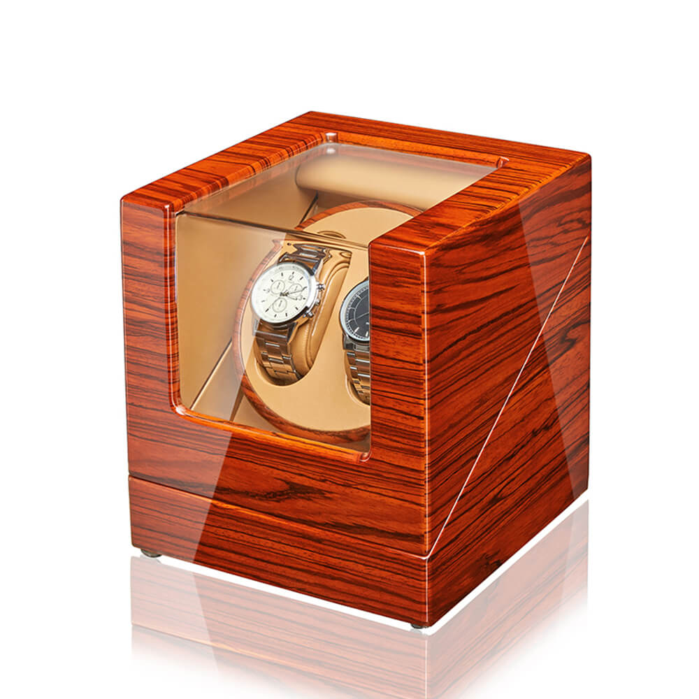 Double Watch Winders - Rosewood