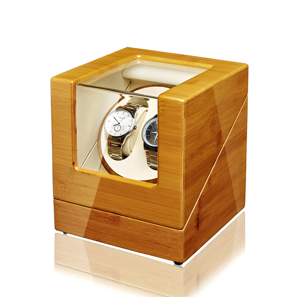 Double Watch Winder-Bamboo