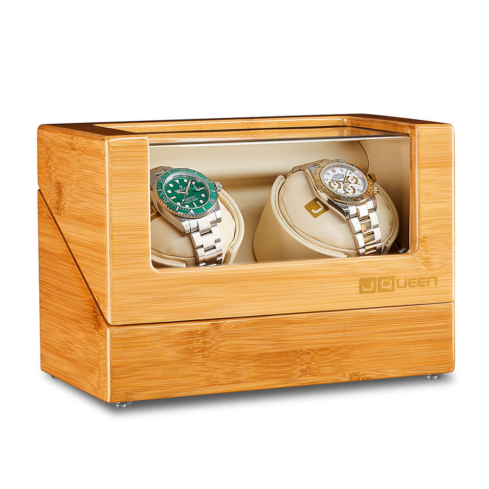 Double Watch Winder - Bamboo