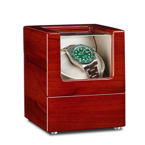 Single Watch Winder - Apple Wood