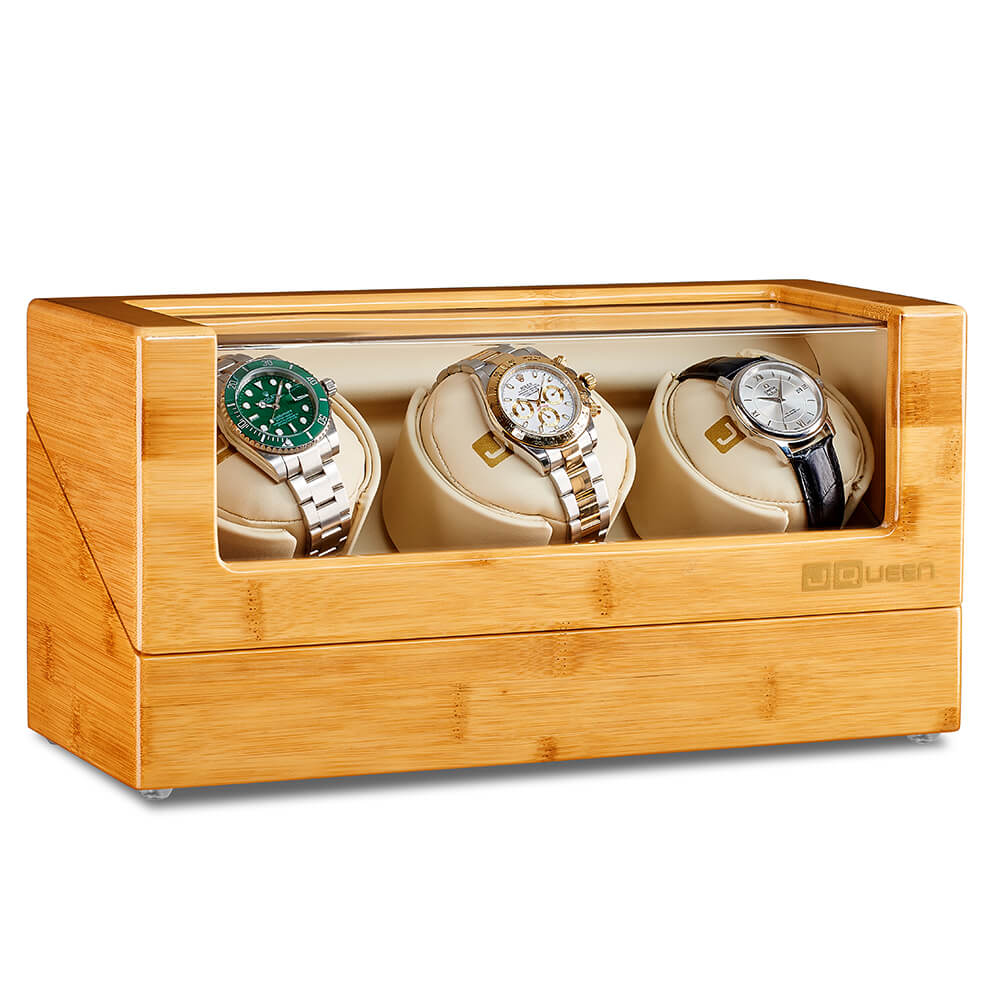 Three Watch Winder - Bamboo