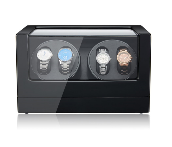 Quad Watch Winder in Black