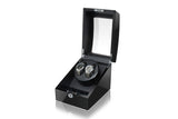 Double Watch winders with 3 storages -Black