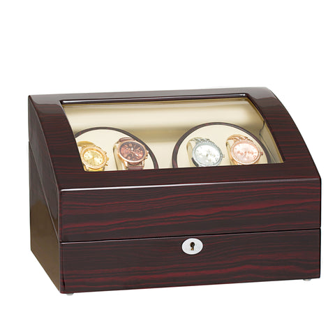 4 Watch Winder and 6 Watch Storages - Ebony