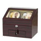 4 Watch Winders with 6 Storages - Ebony