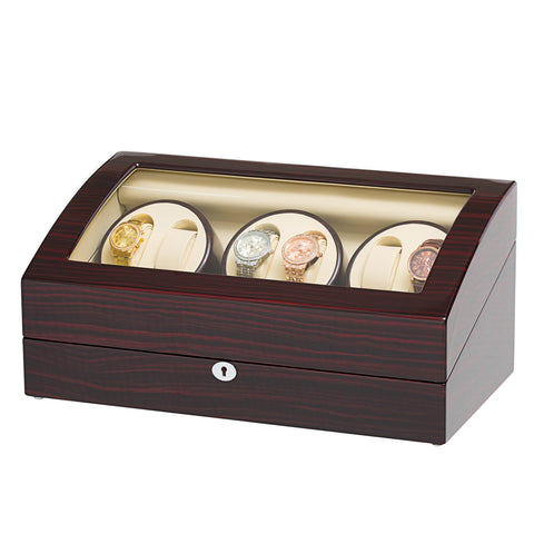 Six Automatic Watch Winder with 7 Extra Storages Spaces