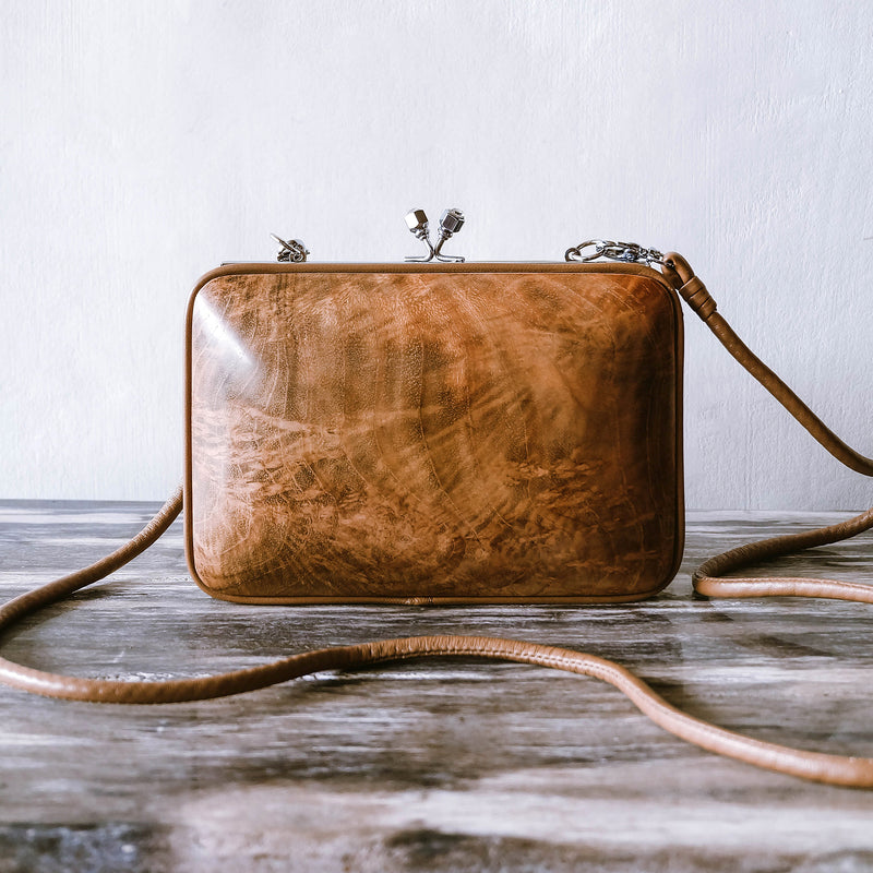 Jati Midi Bag - Handmade with Teak Wood
