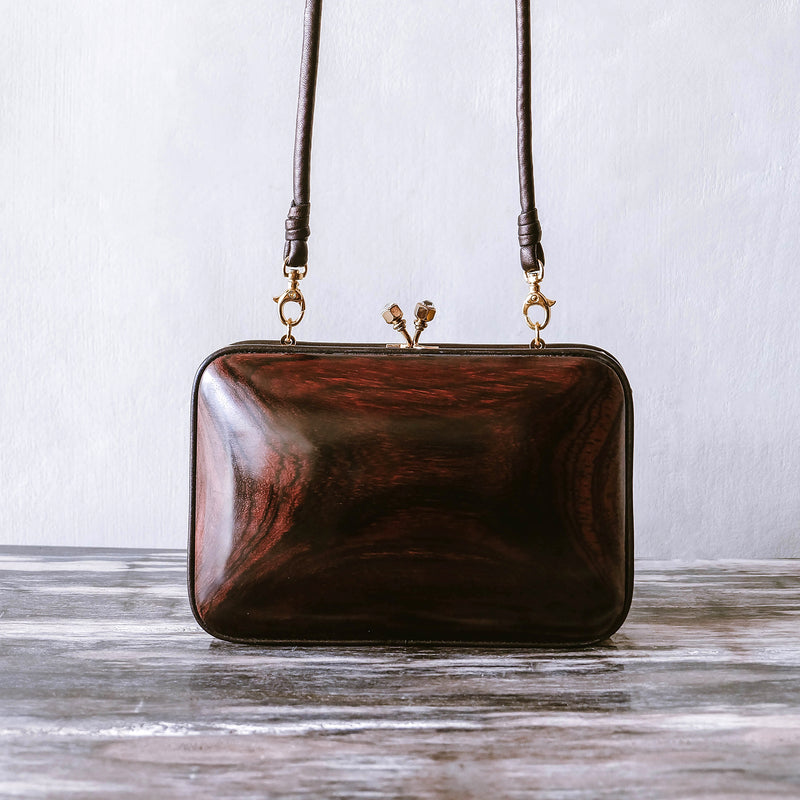 Mawar Midi Bag - Handmade with Rose Wood