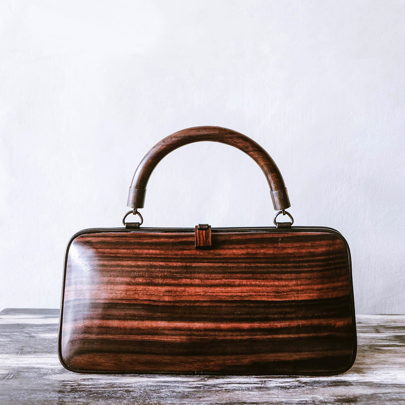 Mawar Baguette Bag - Handmade with Rose Wood