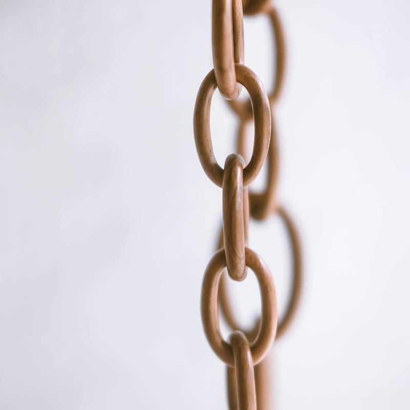 Jati Chain Necklace - Handmade with Teak Wood