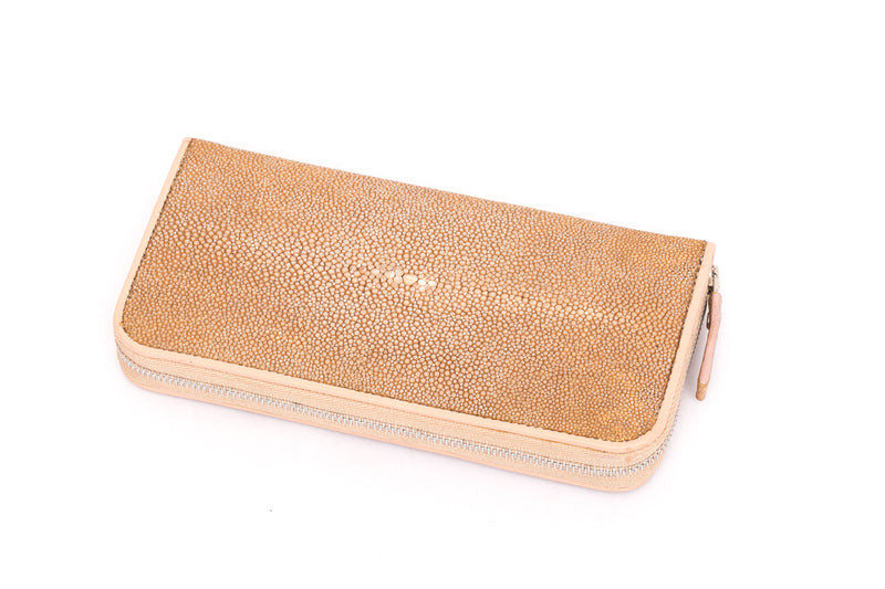 Zip Around Wallet in  Stingray Leather