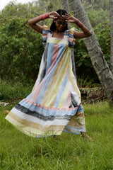 Ponza Dress - Hand painted with love