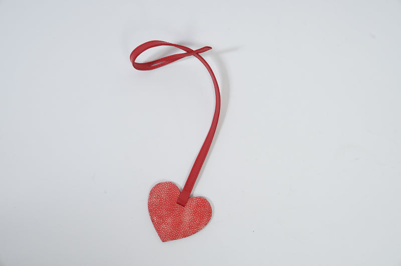 Heart Charm in Stingray Leather