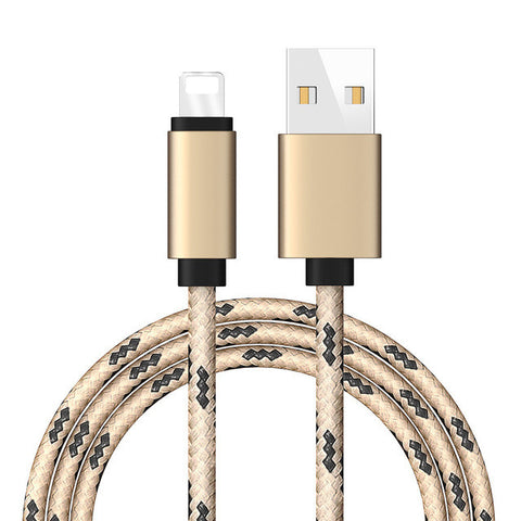 Nylon Woven USB Charger Cable For iPhone and iPad