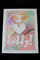 Fathers day card with crayons - The Mum Life