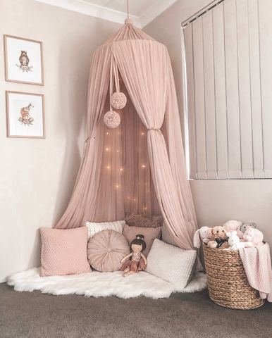 bed canopy nursery decor