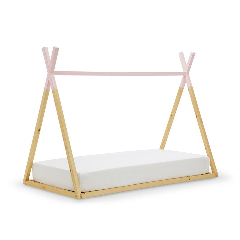 Teepee Single Bed - White or Pink - Wooden Kids Bed