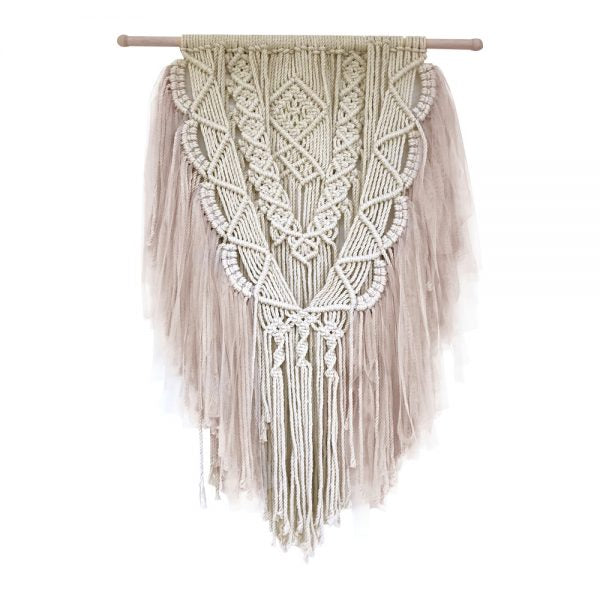 SPINKIE dreamy macrame wall hanging | Champagne