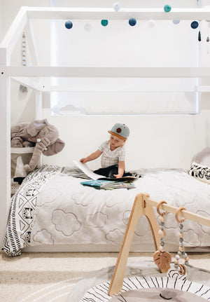 Haus Single Bed | WHITE (preorder) - The Mum Life