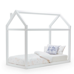 Kids House Bed Single Bed | WHITE- The Mum Life
