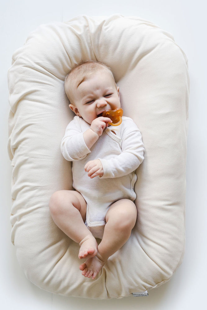 Snuggle Me Organic | NATURAL | Newborn baby lounger - The Mum Life