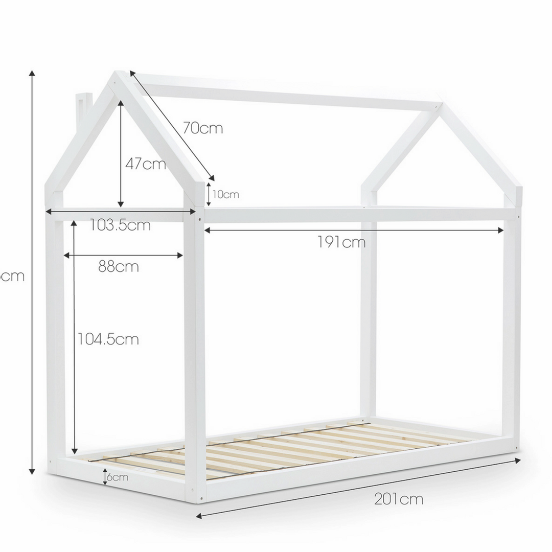 Haus Single Bed White (arriving mid-December)